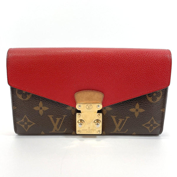 LOUIS VUITTON purse M58414 Portefeiulle Palace Monogram canvas Brown Red Women Used