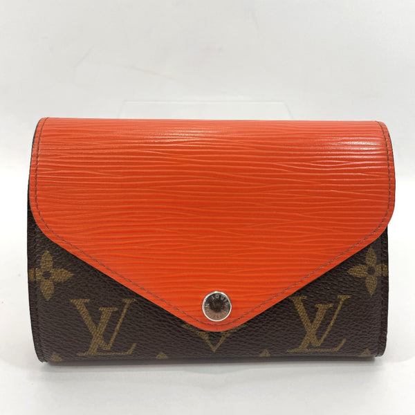 LOUIS VUITTON Tri-fold wallet M60495 Portefeiulle Marilou Compact Monogram canvas Brown Women Used