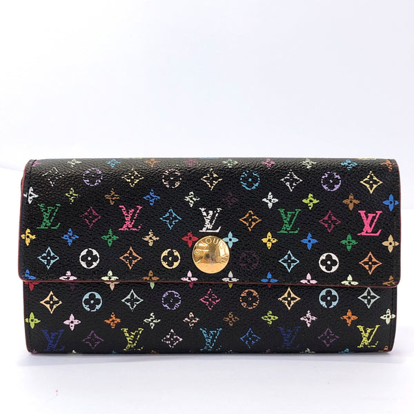 LOUIS VUITTON purse M93747 Portefeiulle Sarah Monogram multicolor Black Women Used