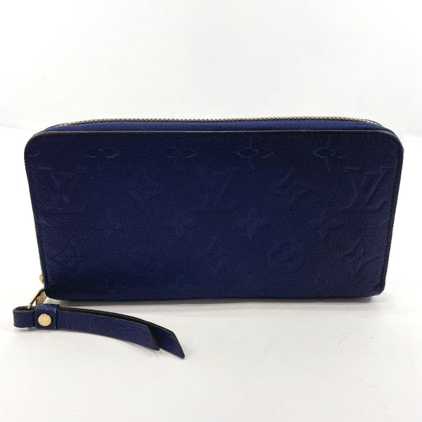 LOUIS VUITTON purse M60943 Zippy wallet Monogram unplant blue Women Used