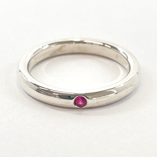 TIFFANY&Co. Ring Elsa Peretti Stacking band Silver925/Pink Sapphire 10 Silver pink Women Used