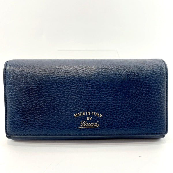 GUCCI purse 354498 leather Navy blue Women Used