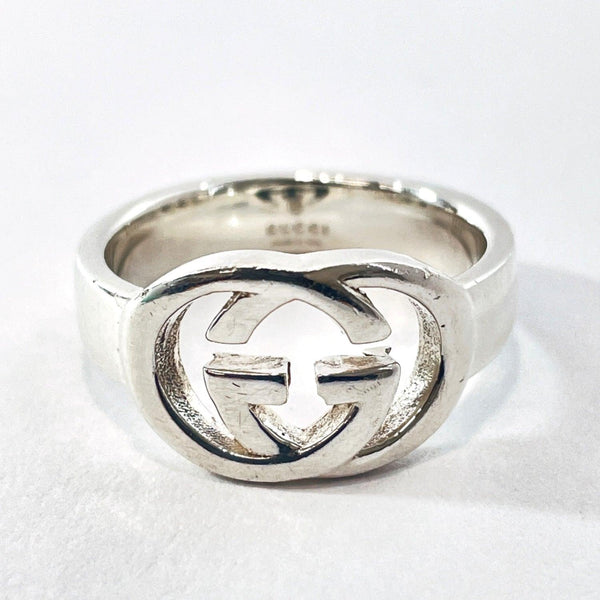 GUCCI Ring Interlocking Britt Silver925 20 Silver unisex Used