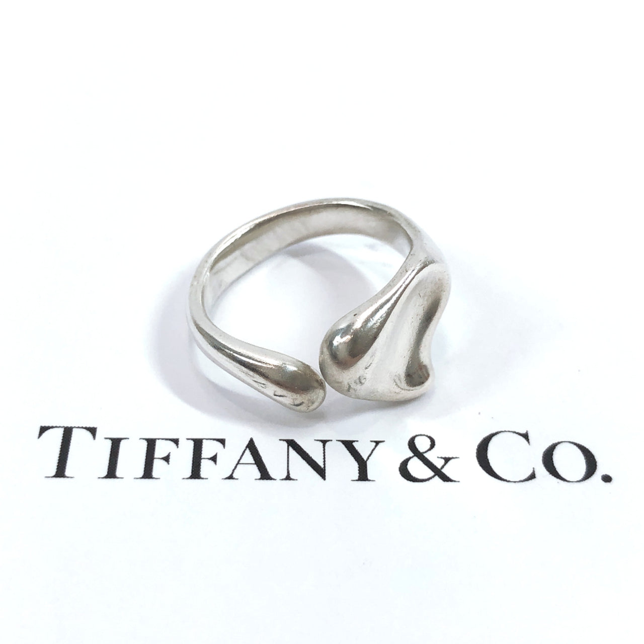 TIFFANY&Co. Ring Beans heart Silver925 BC Silver Women Used