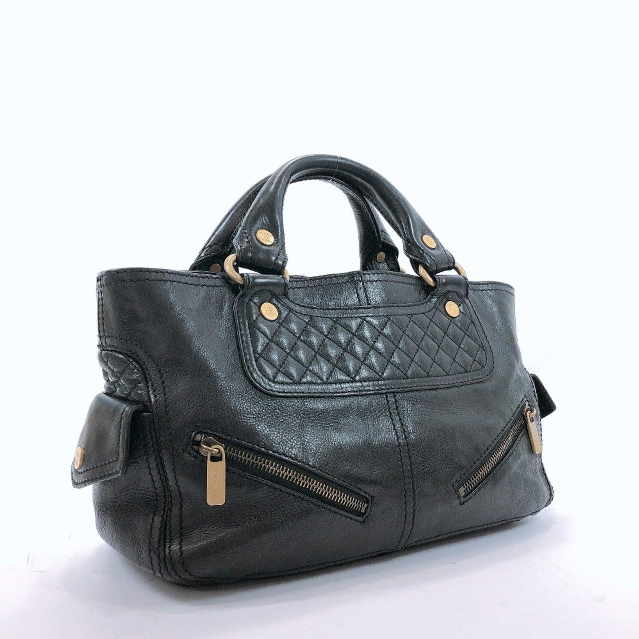 CELINE Tote Bag CE00/25 Boogie bag leather black Women Used