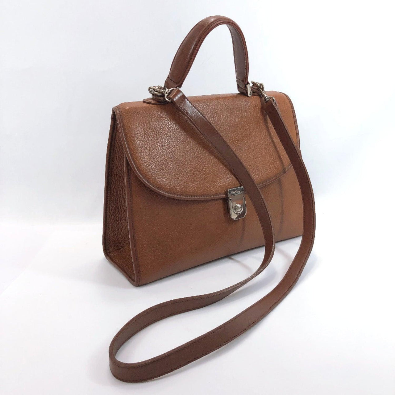 BURBERRY Shoulder Bag 2way leather Brown Women Used