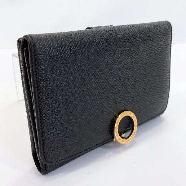 BVLGARI wallet Bulgari Bulgari leather black Women Used