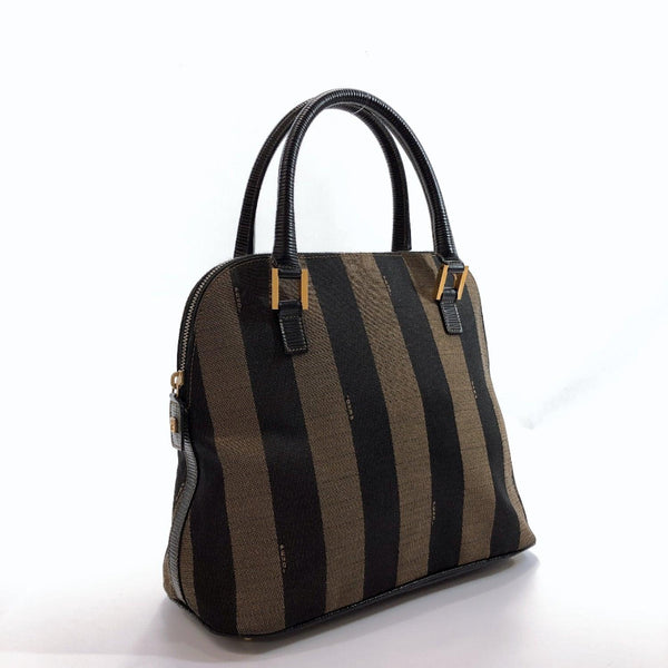 FENDI Handbag Pecan pattern Nylon Brown Women Used