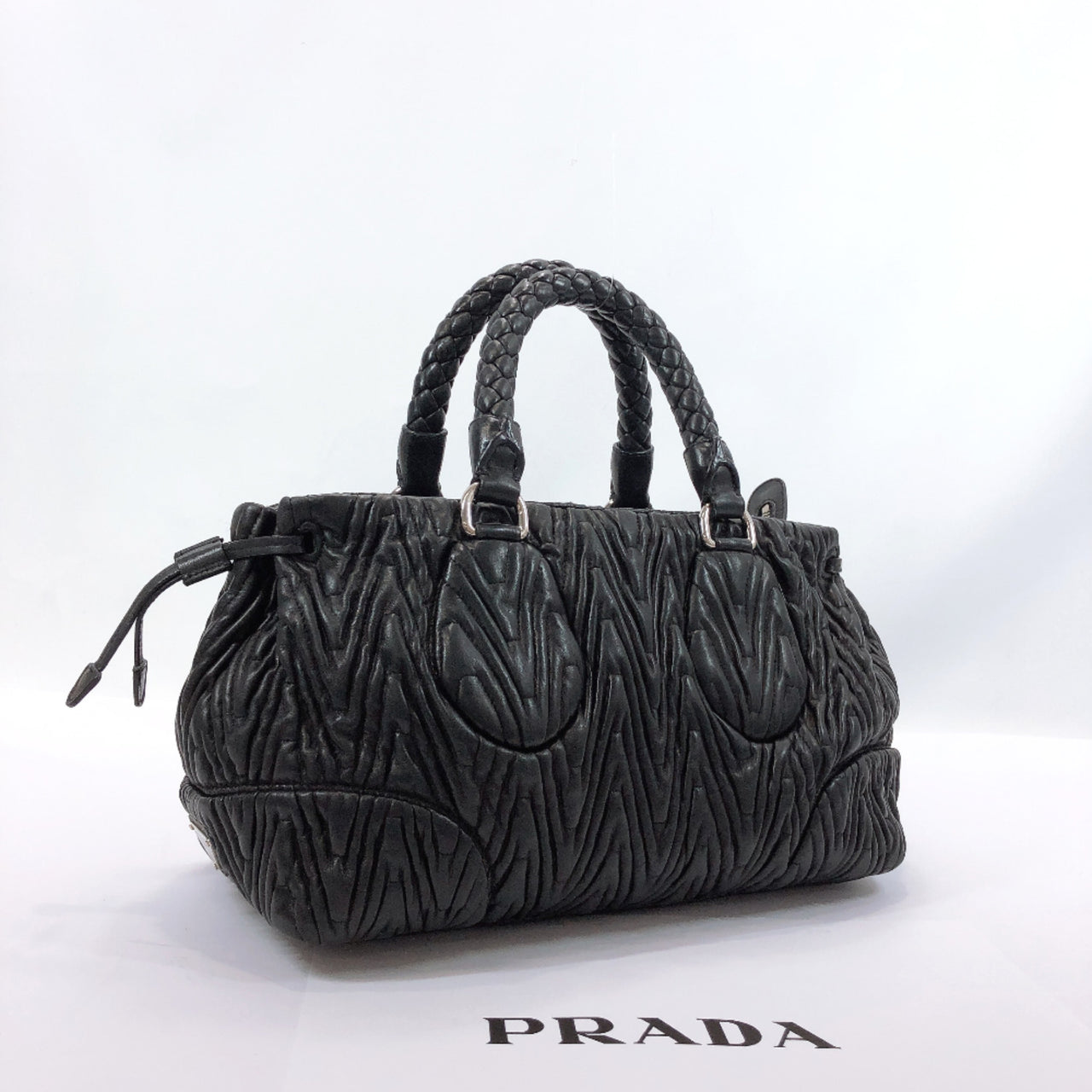 PRADA Tote Bag Materasse leather black Women Used