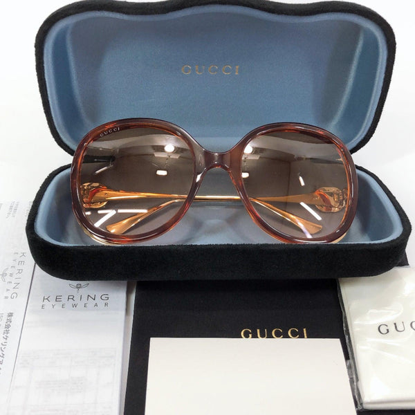 GUCCI sunglasses GG0226S Synthetic resin Brown Women New