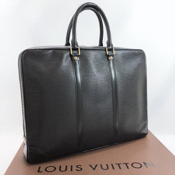 LOUIS VUITTON Business bag M59162 Porte de Cumman Voyage Epi Leather black mens Used