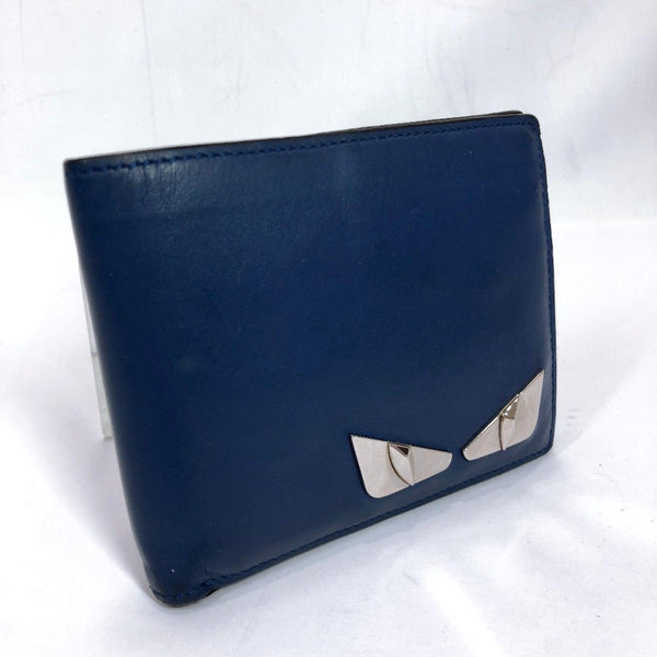 FENDI wallet Bag Bugs/Monster leather Navy SilverHardware mens Used