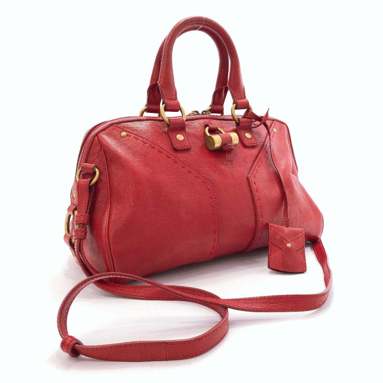 YVES SAINT LAURENT Handbag 2WAY leather Red Women Used - JP-BRANDS.com