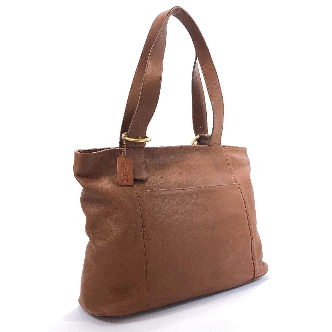 COACH Tote Bag 4155 Old coach Grain leather Brown Women Used