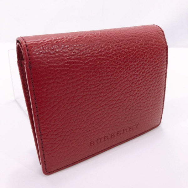 BURBERRY wallet leather wine-red Women Used