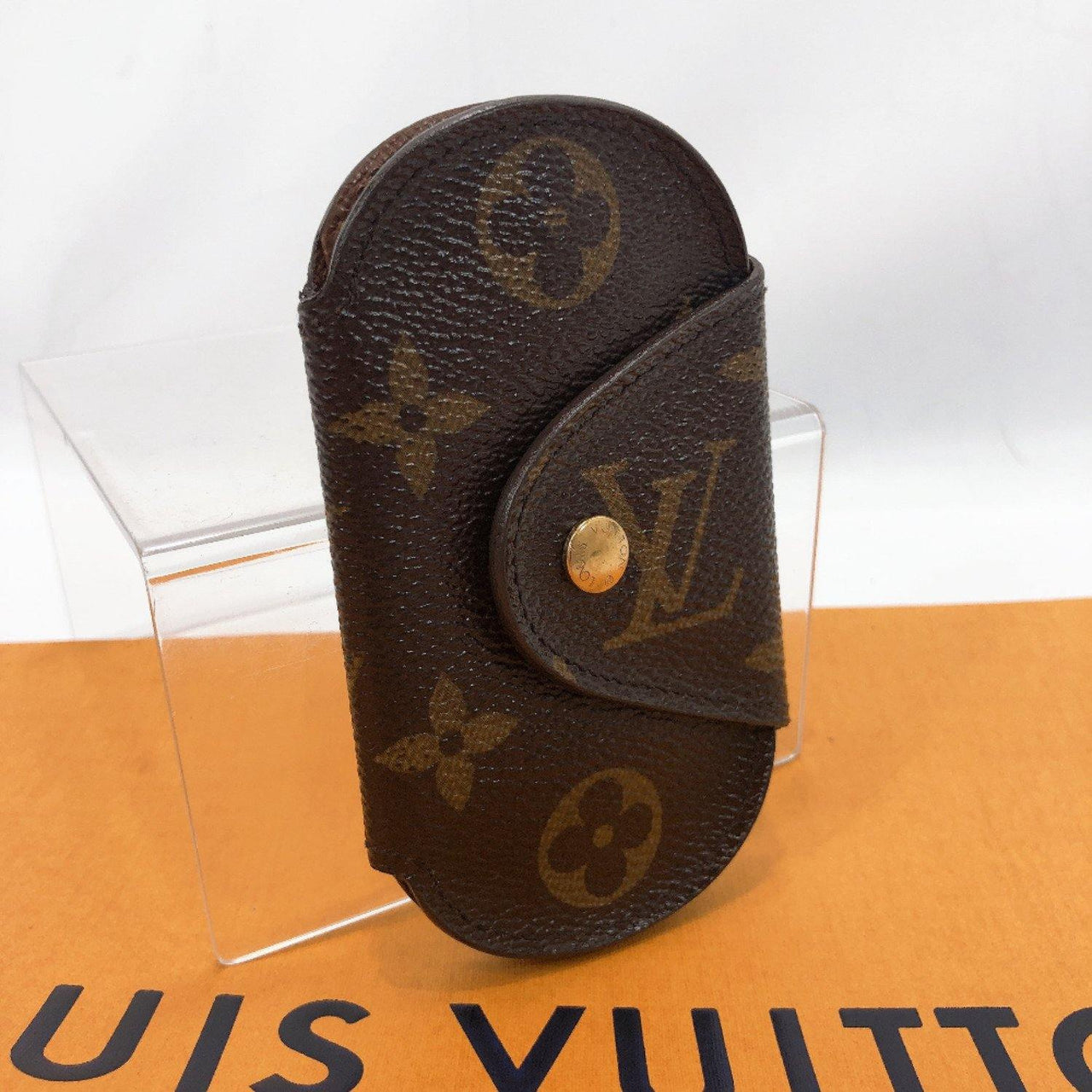 LOUIS VUITTON key holder M60115 Multicles Ron PM 4 hooks Monogram canvas Brown unisex Used