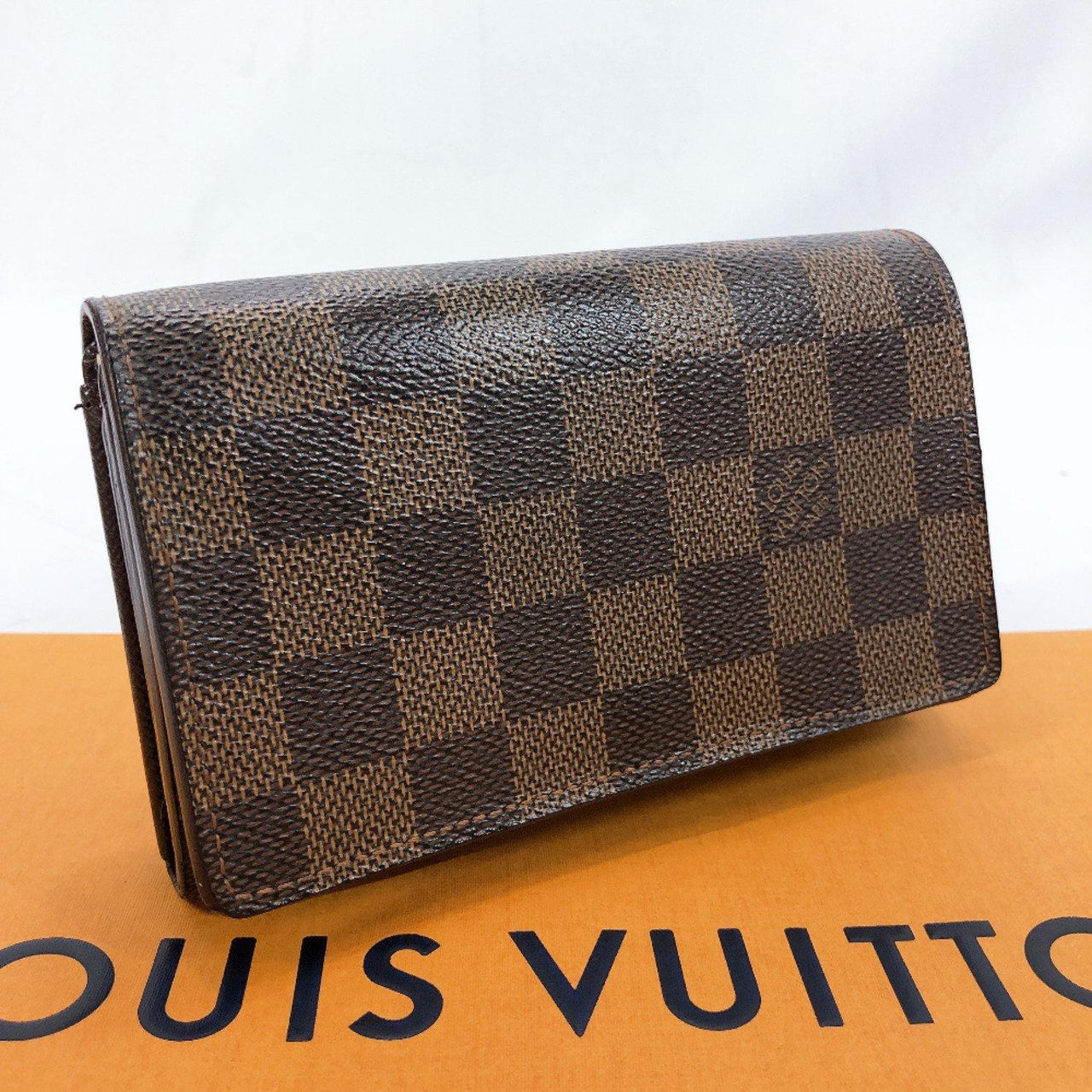 LOUIS VUITTON wallet N61736 Portefeiulle Tresol Damier canvas Brown unisex Used - JP-BRANDS.com