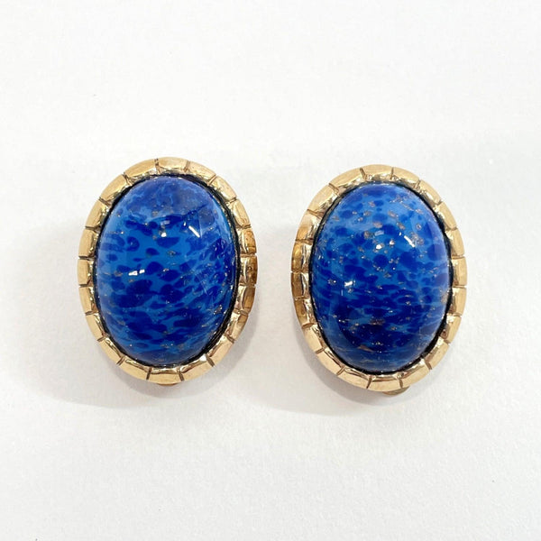 Dior Earring metal/Stone blue gold Women Used