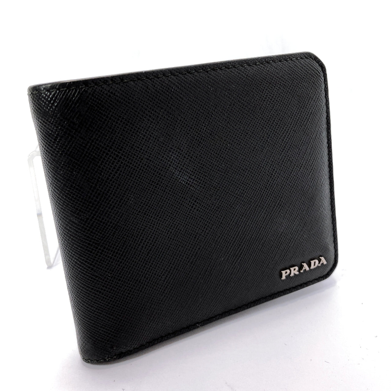 PRADA Bill Compartment Safiano leather black 178 mens Used