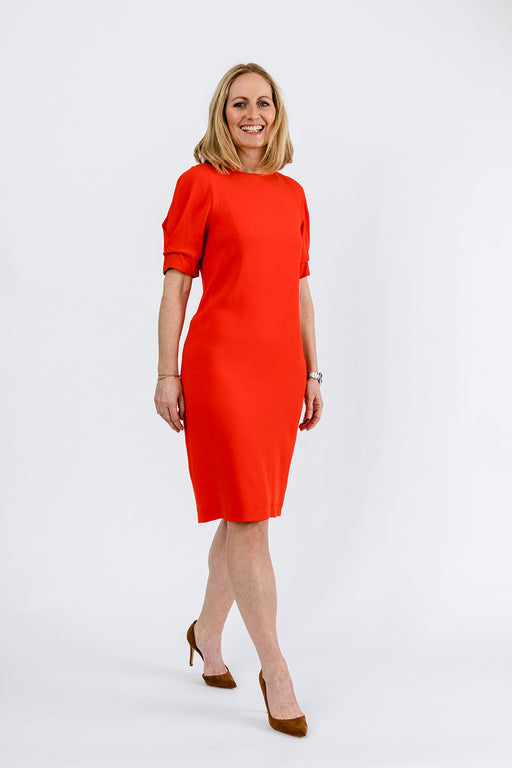 Rotes Businesskleid