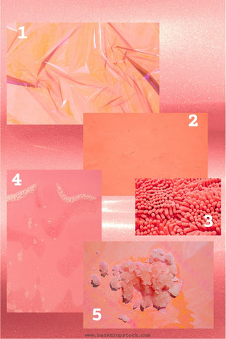 Pantone Living Coral color background stock photos