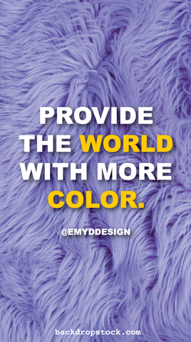 Provide the world with color graphic design tip