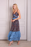 Nora Ruffle Sleeveless Maxi Dress