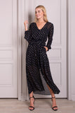 Lucie Tie Waist Long Sleeve Maxi Dress