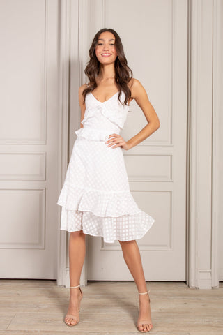 Cora Ruffled Sleeveless Mini Dress