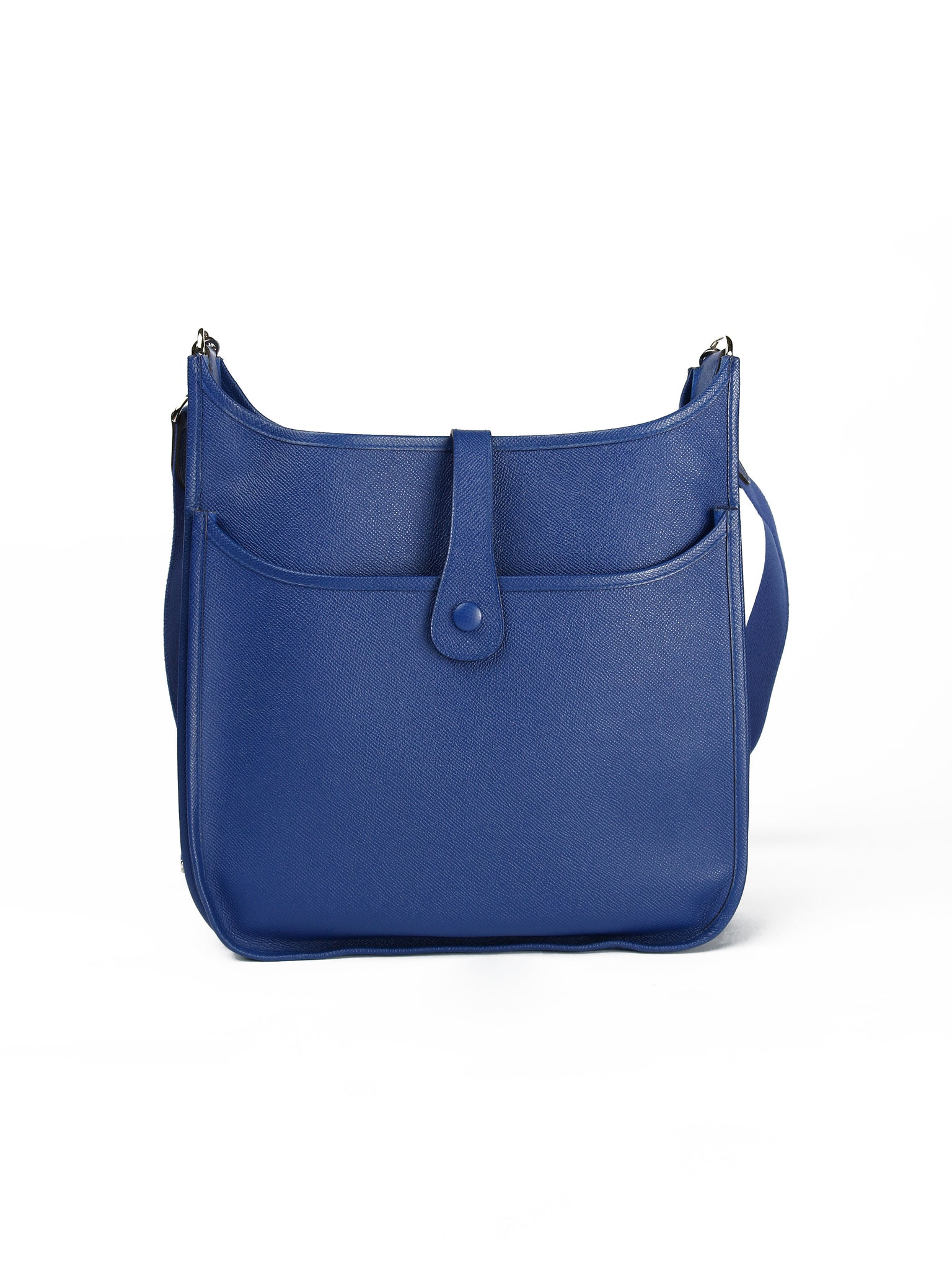 7d361bc2909d HERMÈS EVELYNE BAG (Blue Electric Epsom Leather) – Loved by Pie