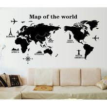 Load image into Gallery viewer, World Map Wall Sticker Removable Wall Art