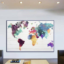 Load image into Gallery viewer, Colorful Map Of The World
