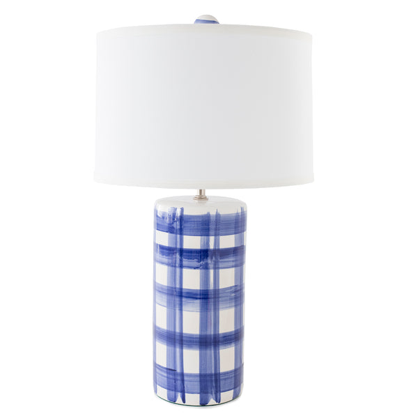 Medium Cylinder Lamp in Brooks Plaid