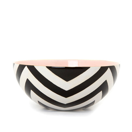 Chevron Low Bowl