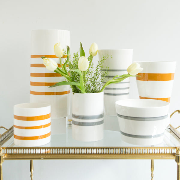 Jill Goldberg Striped Vases