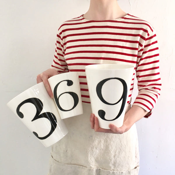 "Jill Goldberg V ""Number"" Vases"
