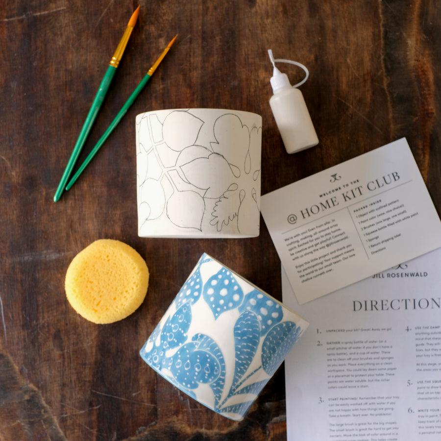 Workshop Kit — Bali Toile Peony Vase