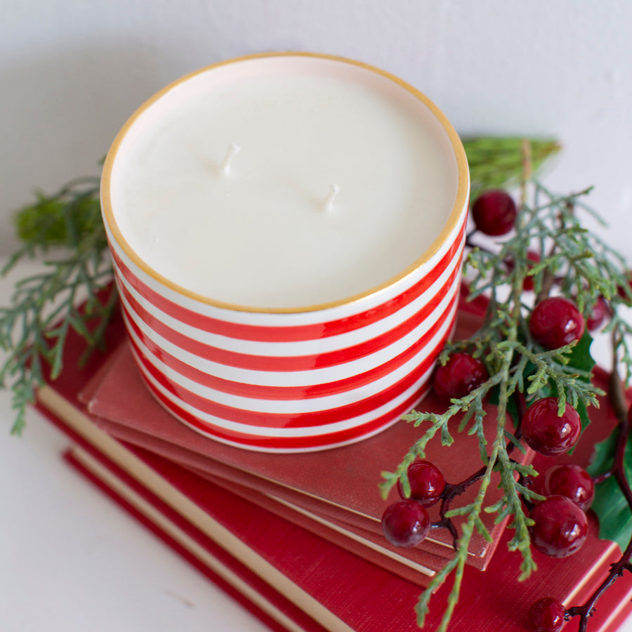 Fraser Fir Candle in Slinky Stripe