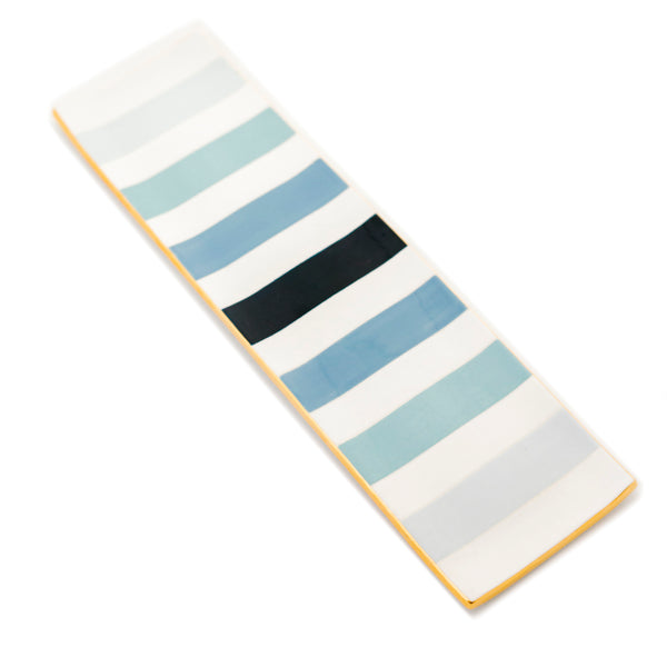 Piano Stripe Ritz Tray