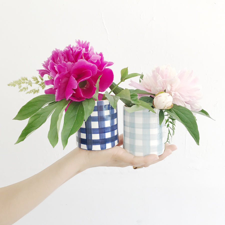 Gingham Plaid Jilly Cup