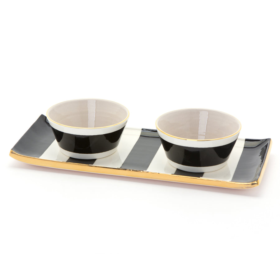 Canopy Stripe Cocktail Tray