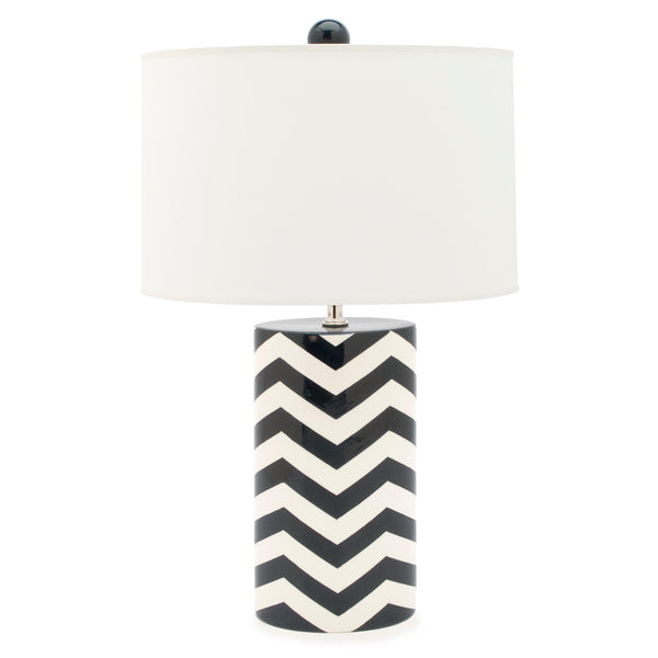 Oval Lamp in Buckley Chevron