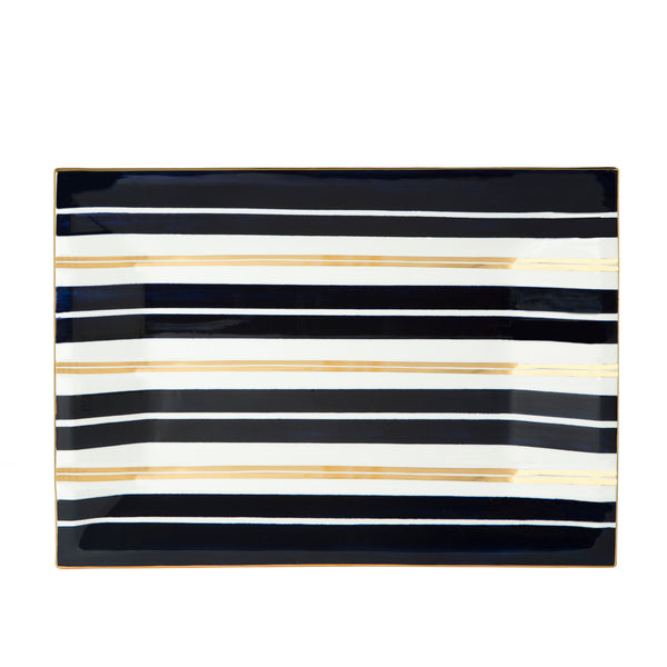 Gold Stripe Caviar Tray