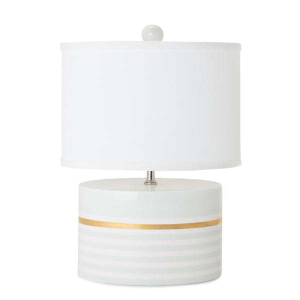 Low Oval Lamp in Lucky Stripe