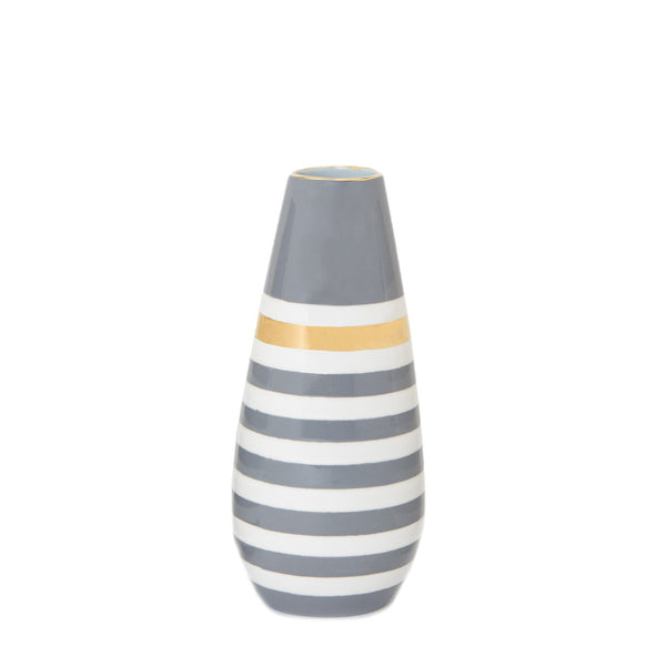 Lucky Stripe Teardrop Vase