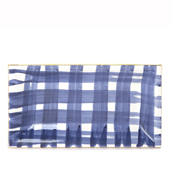 Brooks Plaid Tapas Tray