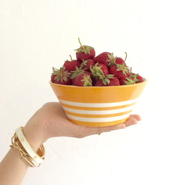 Reverse Capri Stripe Berry Bowl