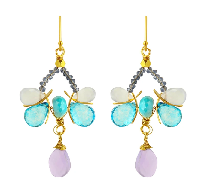 CP Nancy Earrings - Blues