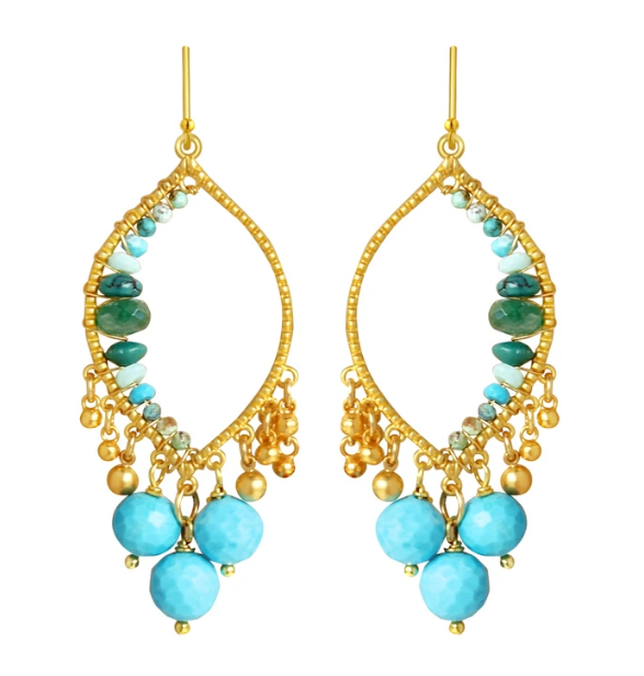 CP Miraloma Earrings - Turquoise