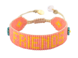 Friends Bracelet - Coral & Yellow